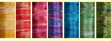 Hand Dyed Silk Ribbon Sampler